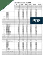 Blockwork Measurements- Fakhrawi
