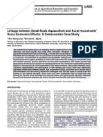 Linkage between Small-Scale Aquaculture and Rural Households' Socio-Economic Effects