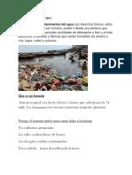 Contaminación Del Agua 2018