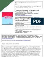 Transport Reviews Volume 29 issue 6 2009 [doi 10.1080%2F01441640902786415] Serebrisky, Tomás; Gómez‐Lobo, Andrés; Estupiñán, Nicolá -- Affordability and Subsidies in Public Urban Transport- What Do We