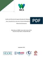 Analisis Calculo Impacto Residual Hidroproyectos Loreto Peru WCS