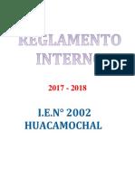 Reglamento Interno Huaca