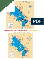 Mapa de Implemetacion de Laboratorios Bolivia