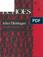 [John Sallis] Echoes After Heidegger