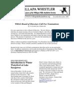 November-December 2007 Willapa Whistler Newsletter Willapa Hills Audubon Society