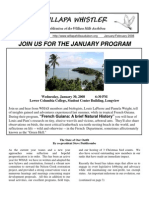January-February 2008 Willapa Whistler Newsletter Willapa Hills Audubon Society