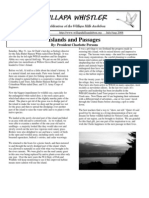July-August 2008 Willapa Whistler Newsletter Willapa Hills Audubon Society