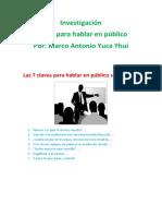 Hablar en Publico Tips