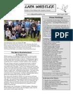 July-August 2009 Willapa Whistler Newsletter Willapa Hills Audubon Society