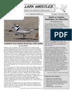 November-December 2009 Willapa Whistler Newsletter Willapa Hills Audubon Society