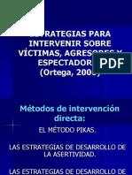 Estrategias de Intervención Sobre Víctimas y Agresores