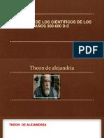 Biografia de Los Cientificos de Los Años 300-600