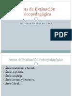 Áreas de Evaluación Psicopedagógica