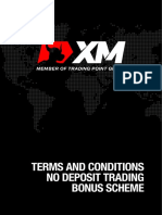 XMGlobal No Deposit Trading Bonus Terms and Conditions