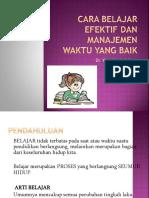 Cara Belajar Efektif dan Manajemen Waktu yang Baik.pptx