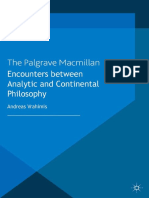 Encounters between analytic and continental philosophy
