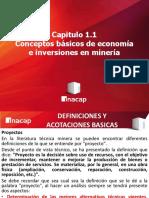 Conceptos Básicos de Economía e Inversión en La Minería FORMULACIÓN de PROYECTOS MINERO METALÚRGICOS