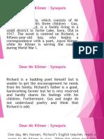 Dear Mr Kilmer_synopsis.pptx