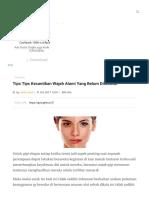 6 Tips Untuk Menjaga Kecantikan Wajah Di Malam Hari Merdeka.com