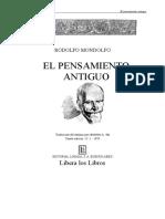 El Pensamiento Antiguo-rodolfo Mondolfo Editorial Losada