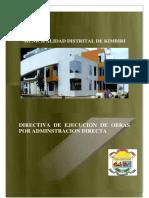 Directiva de Ejecucion de Obra-2015 Modificado