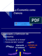 La Economia Como Ciencia