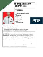 Kartu Pendaftaran SNMPTN 2018 4180464204
