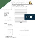 Formulir Pendaftaran Calon Pengurus Osis Terbaru