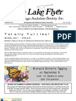 Summer 2007 Lake Flyer Newsletter Winnebago Audubon Society