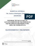 Informe Técnico de Bienes Del Servicio de Emergencia