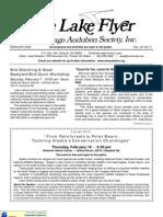 February 2009 Lake Flyer Newsletter Winnebago Audubon Society