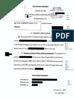 FISA Warrant application