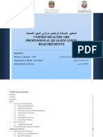 Healthcare Professionals Qualification Requirements (PQR) 2014-1