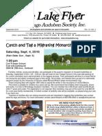 September 2010 Lake Flyer Newsletter Winnebago Audubon Society
