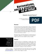 Alejandro Guzmán Ramírez - Nacionalismo, violencia y erotismo en el fútbol