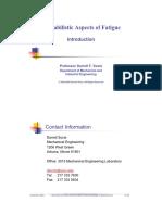 Probabilistic Fatigue A