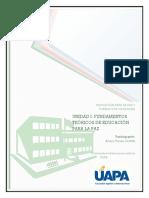 Unidad I Fundamentos Teoricos de Educacion Para La Paz