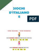 Giochi d'Italiano 5
