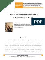 9. La Figura Del Flaneur Contemporaneo y La Democratizacion Del Arte