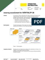Bearing Assessment for Wartsila 20