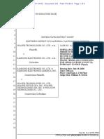 18-07-18 Stipulated Dismissal of Huawei-Samsung FRAND Claim