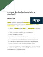 Modelo de Diseños Factoriales y Diseños 2k