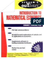 Schaum's Introduction to Mathematical Economics -- 532