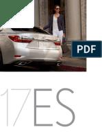 MY17 Lexus ES and ES Hybrid Brochure
