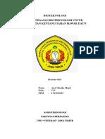Biotek Arief Kentang Hawar Daun