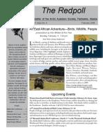 February 2008 Redpoll Newsletter Arctic Audubon Society