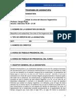 Biopolitica y Subjetividad La Crisis Del Discurso Hegemonico Sergio Rojas