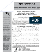 March 2009 Redpoll Newsletter Arctic Audubon Society