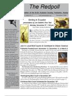 November 2009 Redpoll Newsletter Arctic Audubon Society