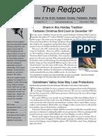 December 2009 Redpoll Newsletter Arctic Audubon Society